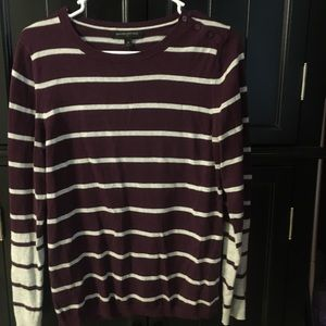 Maroon Two-Toned Sweater